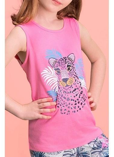 Roly Poly Rolypoly Tiger Safari Açık Pembe Kız Çocuk Şort Takım Pembe